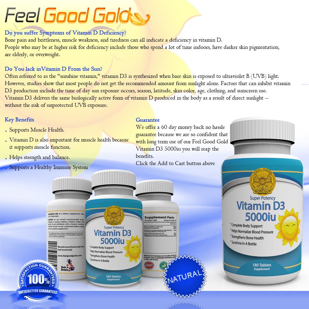 vitamin d3 feel good gold. Black Bedroom Furniture Sets. Home Design Ideas